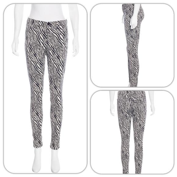 J Brand Denim - J Brand Mid-Rise Womens Zebra Skinny Stretch Jeans